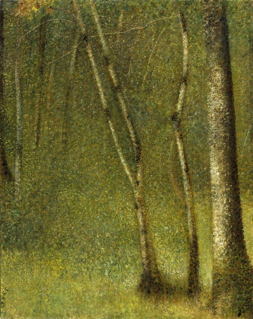 Seurat, Georges (1858-1891): The Forest at Pontaubert, 1881. New York, Metropolitan Museum of Art*** Permission for usage must be provided in writing from Scala.