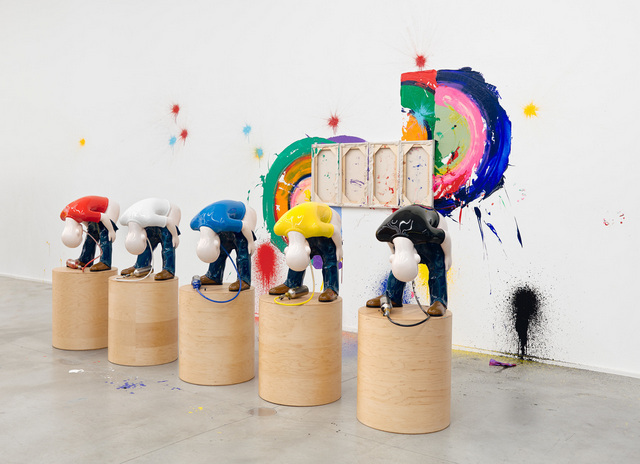 Richard Jackson, installation view. Image courtesy the artist and Hauser & Wirth