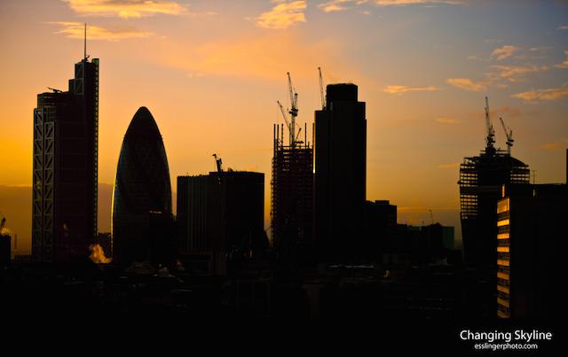 The changing London skyline by John Esslinger