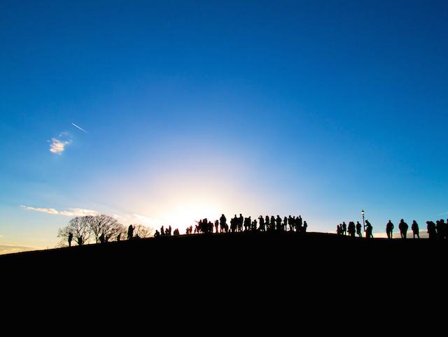 Ant people on Primrose Hill by lloydich