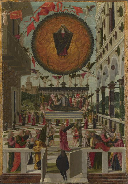 Gerolamo da Vicenza  The Dormition and Assumption of the Virgin, 1488 © The National Gallery, London