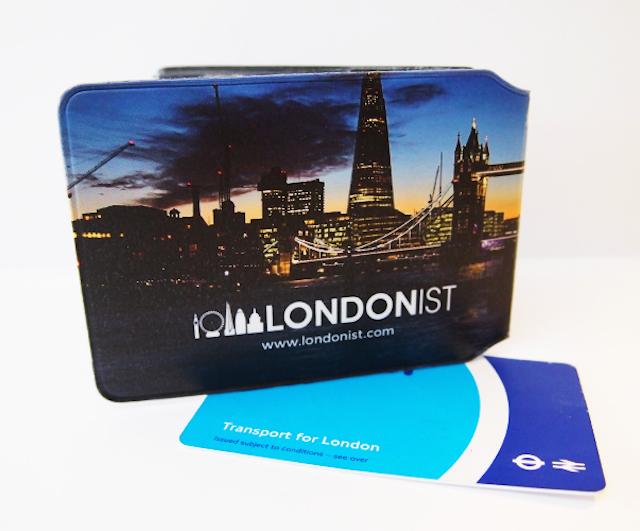 Londonist Oyster Card holder, back side
