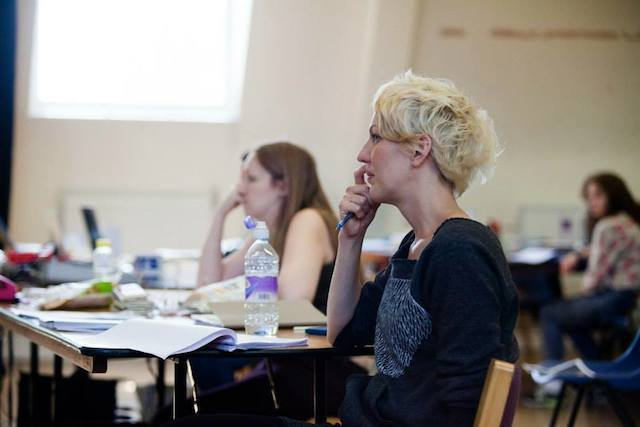 Maria Aberg (director) in rehearsal for Hotel. Photo by Kwame Lestrade.