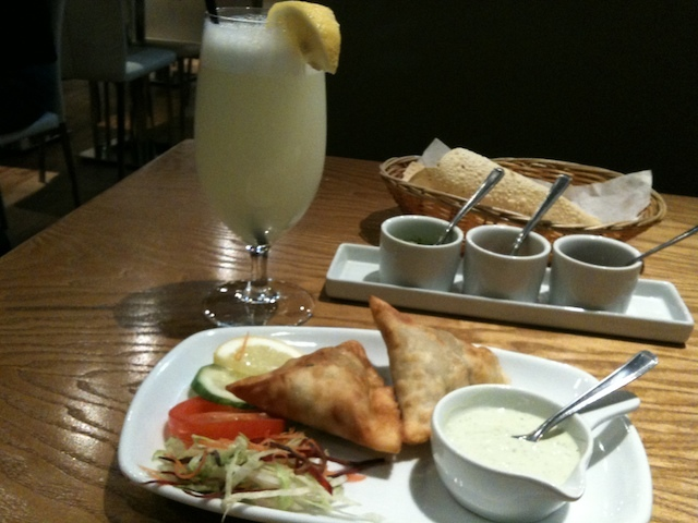 Salt n Pepper: Pakistani lemonade, samosa, papad and chutneys