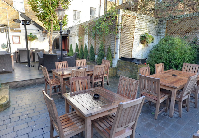 The beer garden...image taken from the pub's 360 degree tour.