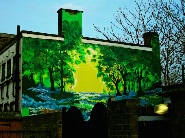 Tree-themed street art, photographed by Laura Kidd on Flickr