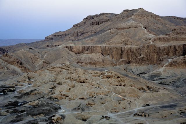 The Theban necropolis where the mummy of an adult male was discovered. © Vandenbeusch