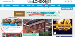 Things To Do In London: Email Newsletter Update