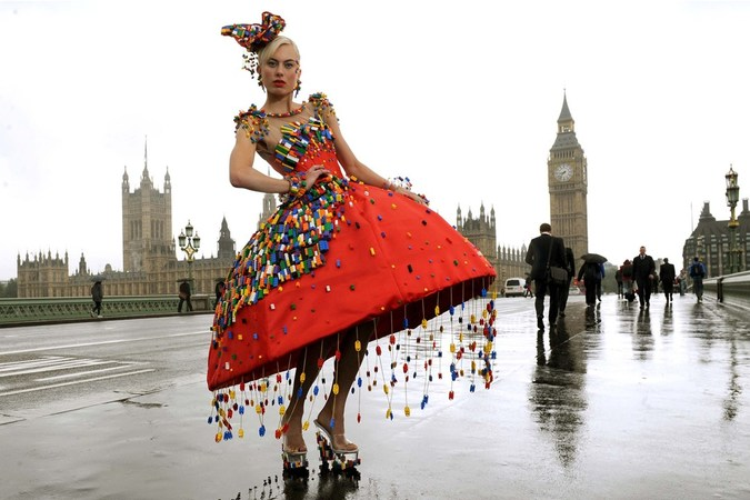 Events will include a quot lego dress promenade quot by designer anne sophie