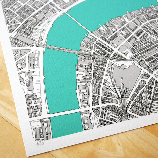 This hand-drawn map of central London took 100 hours to create