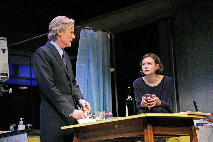 Bill Nighy (Tom Sergeant) and Carey Mulligan (Kyra Hollis). Photo by John Haynes.