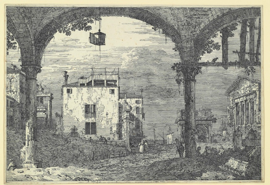 Canaletto, 'Portico with Lantern', c. 1741-44