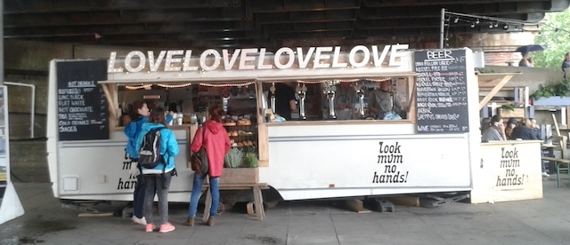 Even the street food vendors are feeling the love.