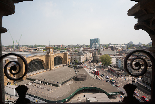 View across King's Cross from Peter's Clock Tower window