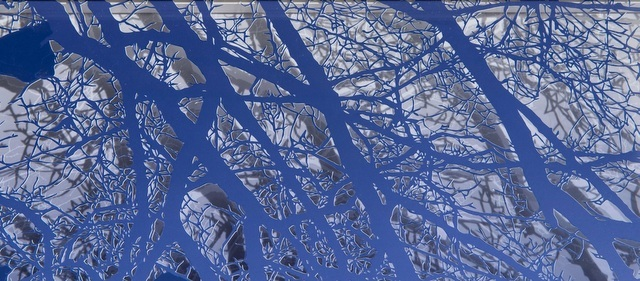Caroline Jane Harris - Treescape Blue (Detail). Image courtesy Scream London