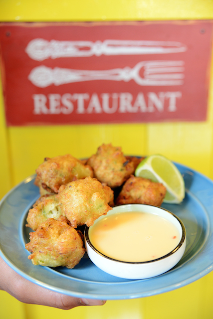 Codfish Fritters at Fish, Wings & Tings