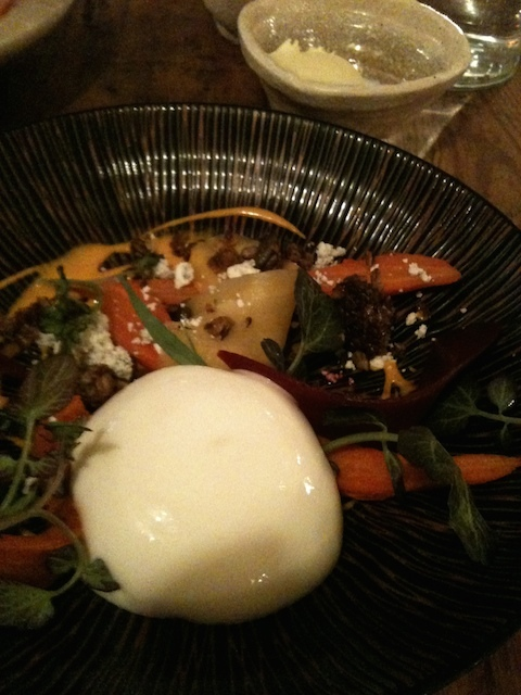 Rooftop carrots, goats cheese, oat granola, buttermilk