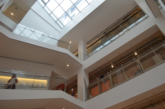 Looking up into the atrium. Photo by M@.