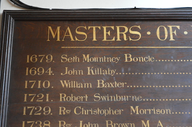 Couldn't resist grabbing this pic of the Mercers' School masters, and the beautifully named Seth Boncle.