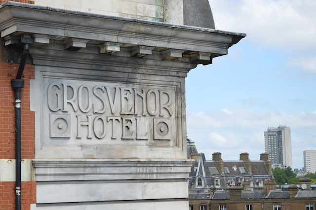 Up close to the Grosvenor Hotel.