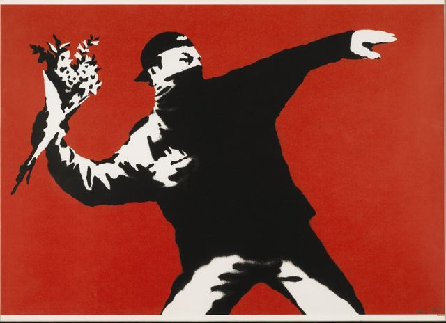 Banksy, Flower Thrower (Love Is In The Air), 2003