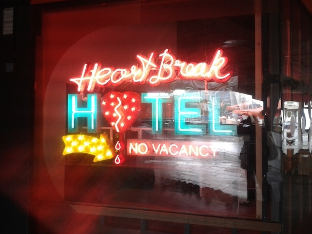 Heartbreak Hotel Neon artwork by Chris Bracey.