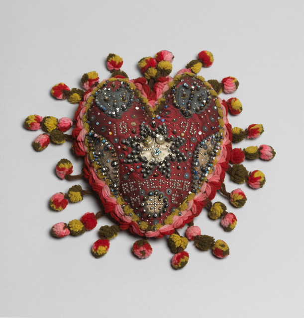 Artist unknown, heart pincushion. Beamish, the Living Museum of the North. Image courtesy of Tate Photography.