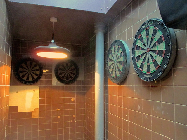 The gents lavs: geared up for those who need to dart to the toilet.