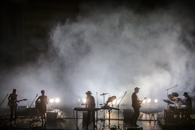 Trentemøller and band. Photo by Jose Farinha.