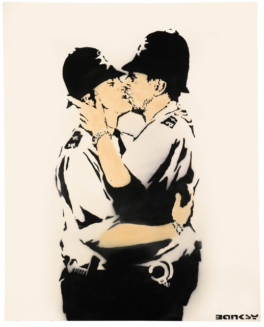 Bansky, Kissing Coppers 2005