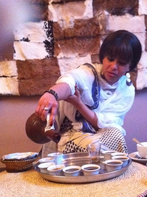 Part of the coffee ceremony. Photo by T. Tian.