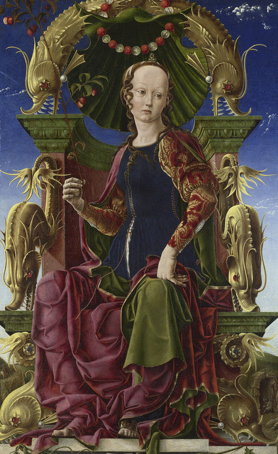 Cosimo Tura A Muse (Calliope?) probably 1455-60 The National Gallery, London