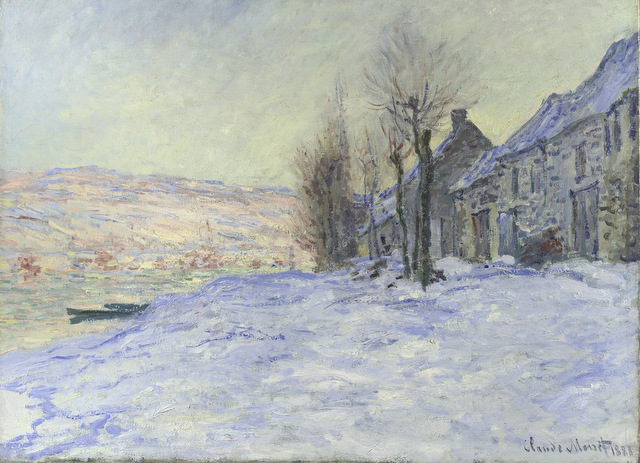 Claude Monet Lavacourt under Snow about 1878-81 The National Gallery, London