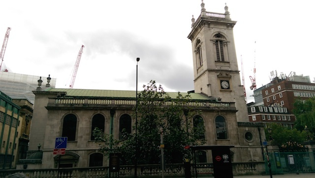 St Andrew's Holborn, one of the few remaining buildings the condemned would have seen on their final journey.