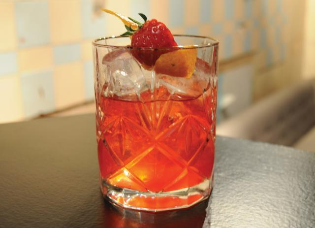 Wild Strawberry Negroni at Reverend J W Simpson