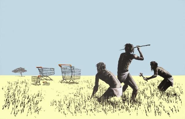 Banksy, Trolleys. 2006.