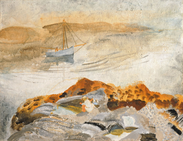 Winifred Nicholson, Seascape with Two Boats, 1926, Courtesy of Kettle's Yard, University of Cambridge ©Trustees of Winifred Nicholson