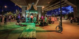 Party Beneath A Flyover In Canning Town