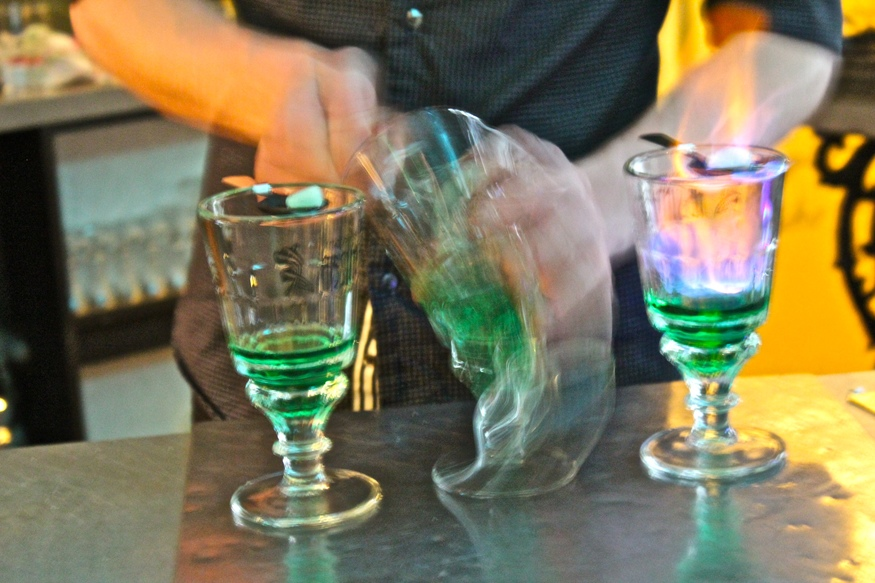 Meet the green fairy courtesy of La Fête.