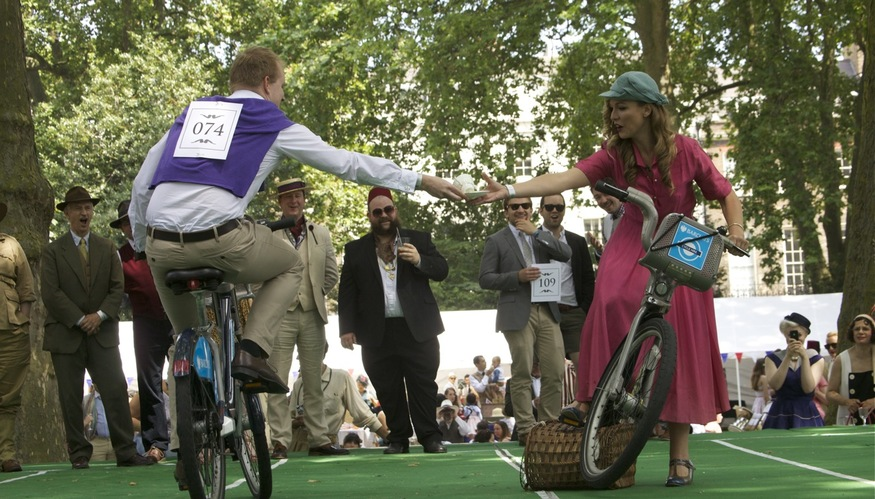 The Tea Pursuit saw possibly the first sporting use ever of Boris Bikes.