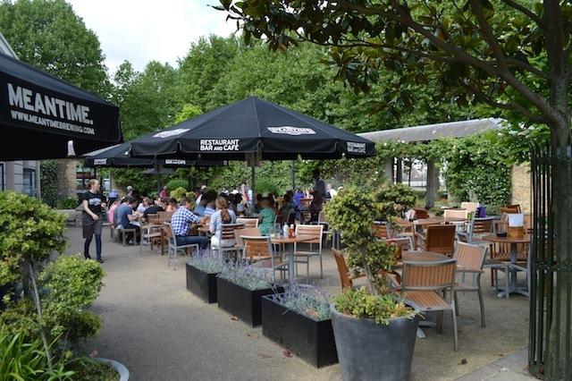 A popular beer garden.