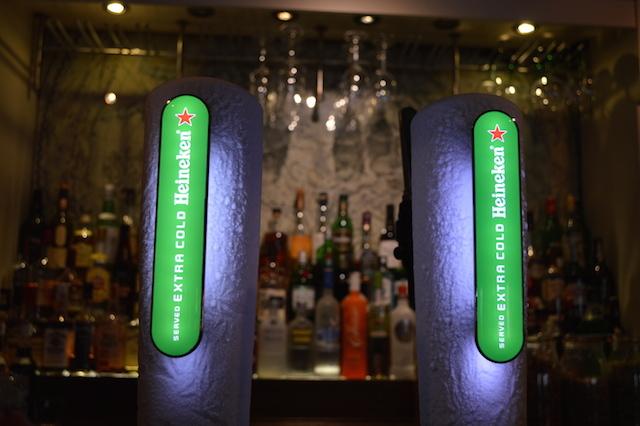 Icy Heineken pumps.