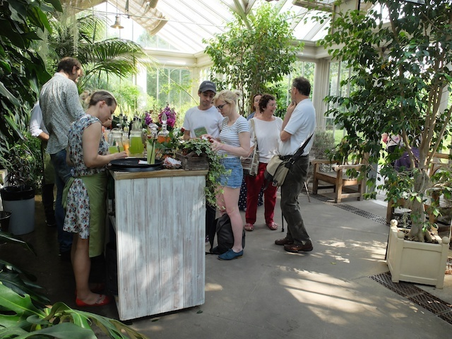 Taking orders in The Gin and Tonics Garden
