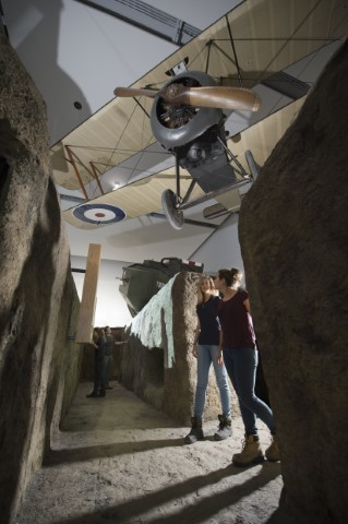 First World War galleries, installation image. Courtesy and copyright Imperial War Museum