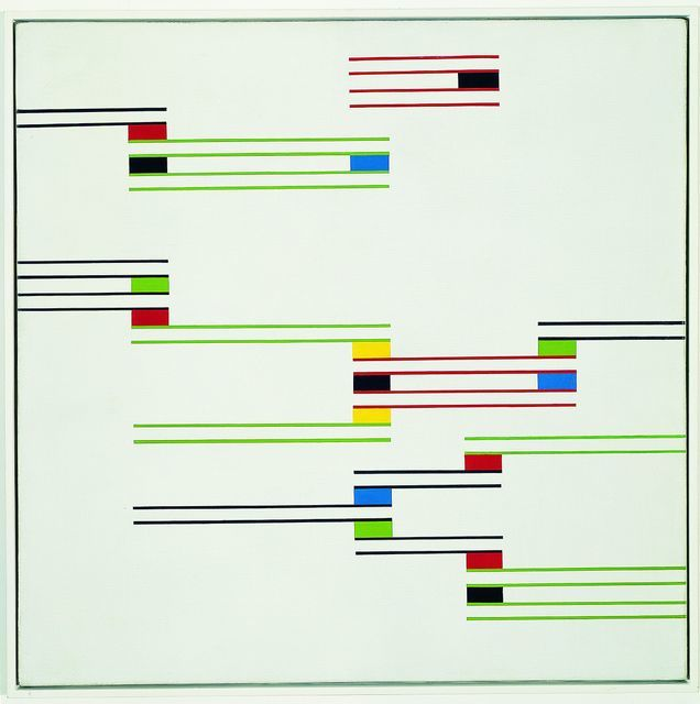 Key. 6  /  Cat. 0    Alfredo Hlito  Chromatic Rhythms II, 1947  Oil on canvas, 69.9 x 70.2 cm  Coleccion Patricia Phelps de Cisneros   c. Sonia Henriquez Urena de Hlito