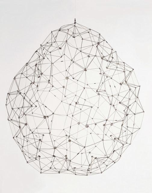 Gego (Gertrude Goldschmidt)  Sphere, 1976  Stainless steel, 99.1 x 91.4 x 88.9 cm  Coleccion Patricia Phelps de Cisneros  c. Fundacion Gego