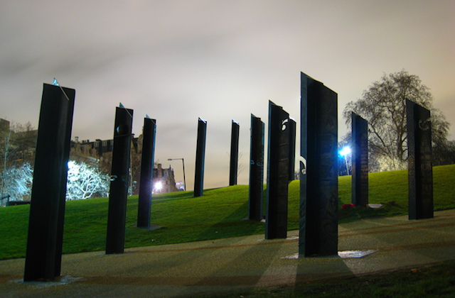 New Zealand War Memorial in Hyde Park. There are 16 of these individual sculptures. Photo by Sajid Pathan.