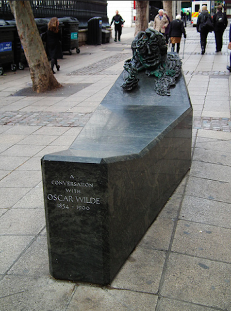 Not the most traditional of sculptures, but then Oscar Wilde wasn't a typical kind of  guy. This memorial in Charing Cross is officially called A Conversation with Oscar Wilde, the idea being that his oh-so-inviting visage entices the passer-by to take a seat and engage the famous playwright in conversation.  Despite his death in 1900, the green granite and bronze tribute to Wilde by Maggi Hambling was not unveiled until 1998.