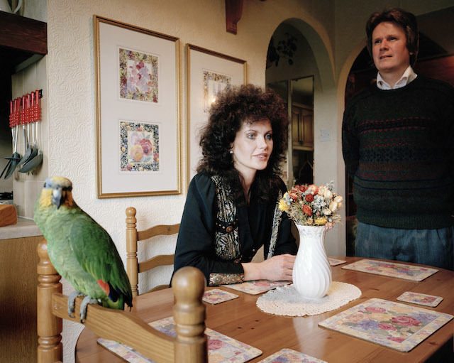 "GB. ENGLAND. From 'Signs of the times'. ""We thought we could make it look sort of bistro-y looking in the kitchen and then carry it through to the lounge"". 1991."