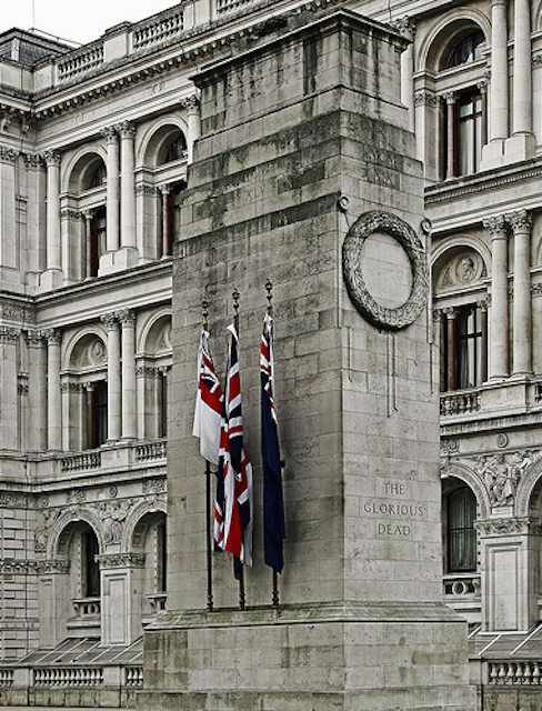 The Cenotaph on Whitehall, photographed by markdbaynham.